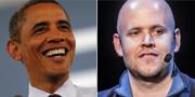 Arkiv, Barack Obama och Daniel Ek. TT