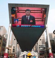 Kinas president Xi Jinping under Folkkongressen i Peking i mars 2021. Ng Han Guan / TT NYHETSBYRÅN