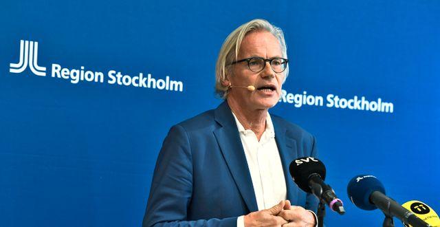 Johan Bratt, tillförordnad hälso- och sjukvårdsdirektör i Region Stockholm. Claudio Bresciani/TT / TT NYHETSBYRÅN