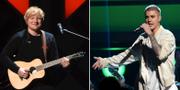 Ed Sheeran och Justin Bieber. Arkivbild. TT