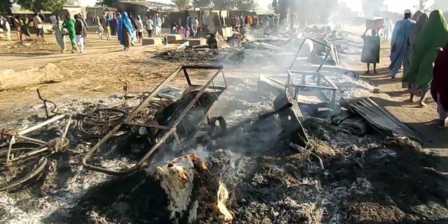 Förödelsen efter attacken. AUDU MARTE / AFP