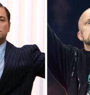 Leonardo DiCaprio och Meshuggahs Jens Kindman. TT