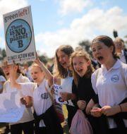 Unga klimataktivister i Australien. Steven Saphore / TT NYHETSBYRÅN