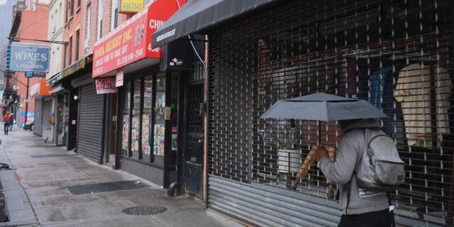 Illustrationsbild: Stängda butiker i Brooklyn, New York. ANGELA WEISS / TT NYHETSBYRÅN