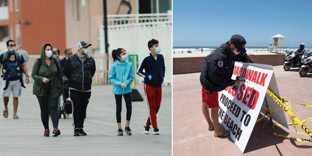 Bilder från New York och Kalifornien.  TT