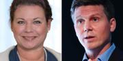 Tina Acketoft och Erik Ullenhag. Arkivbilder. Liberalerna, TT