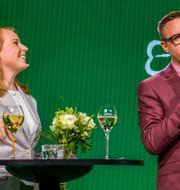 Fredrick Federley tillsammans med C-ledaren Annie Lööf.  Pontus Lundahl/TT / TT NYHETSBYRÅN