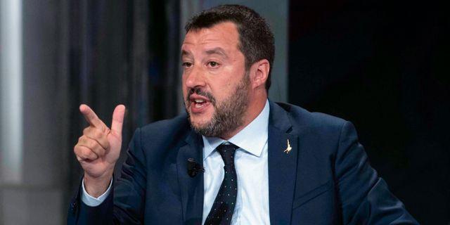 Matteo Salvini. Maurizio Brambatti / TT NYHETSBYRÅN