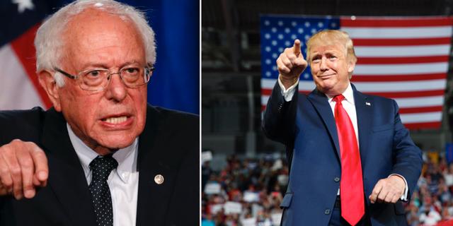 Bernie Sanders och Donald Trump.