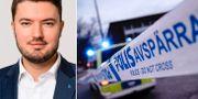 Roko Kursar (L)/Polisavspärrning. Pressbild/TT