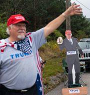 Trump-supporter i Bedford. Carolyn Kaster / TT NYHETSBYRÅN