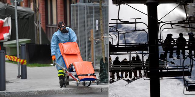 St Görans akutintag, arkivbild/skidort. TT