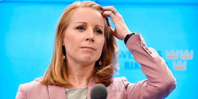 Annie Lööf (C), är senaste partiledare ut att få talmannens sonderingsuppdrag. Anders Wiklund/TT / TT NYHETSBYRÅN