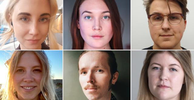 Högst upp, från vänster: Felicia Nordlund, Vendela Bolin, Linus Lindgren, Olivia Wikström, David Peterson, Hanna Eriksson.  Privat.