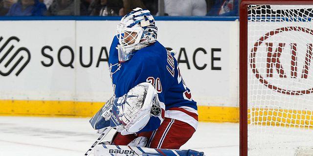Henrik Lundqvist i mål för New York Rangers. ANDY MARLIN / BILDBYRÅN