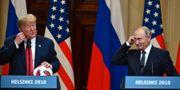 Donald Trump/Vladimir Putin. YURI KADOBNOV / AFP