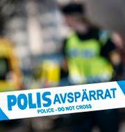 Polisens avspärrningsband. Arkivbild.  Johan Nilsson/TT / TT NYHETSBYRÅN