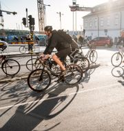 Cyklister i Stockholm. Magnus Hjalmarson Neideman/SvD/TT / TT NYHETSBYRÅN