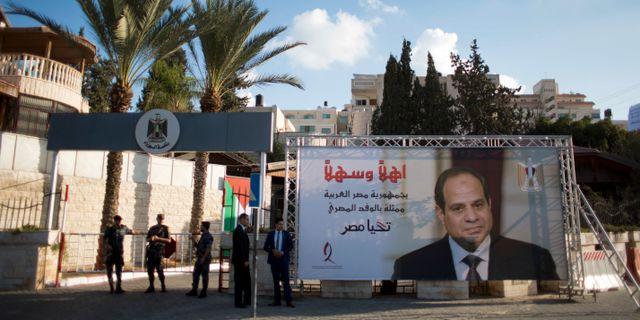 Abd al-Fattah al-Sisi valdes med stor majoritet. Khalil Hamra / TT / NTB Scanpix