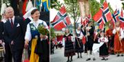 Svenskt och norskt nationaldagsfirande. TT