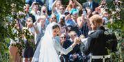 Meghan Markle och prins Harry gifter sig. Danny Lawson / TT / NTB Scanpix