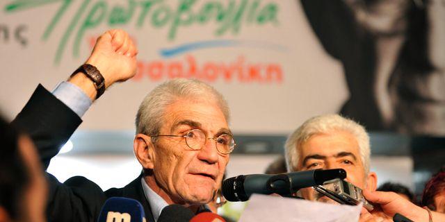 Yiannis Boutaris under en valmöte 2010. Nikolas Giakoumidis / TT / NTB Scanpix