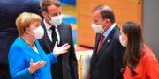 Tysklands, Frankrikes, Sveriges och Finlands ledare under EU-mötet John Thys / TT NYHETSBYRÅN