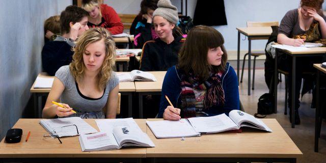 Elever i gymnasieskola/arkiv.  KARIN MALMHAV / TT / TT NYHETSBYRÅN