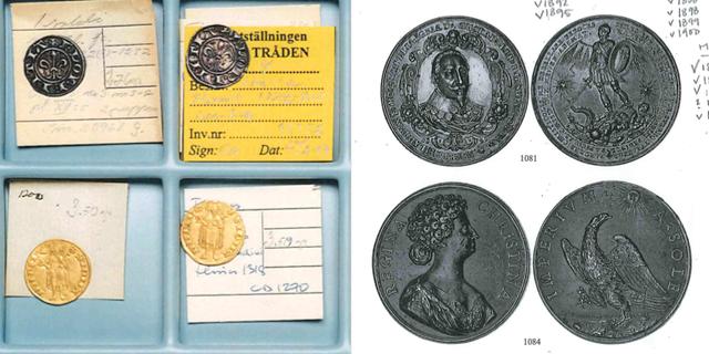 Några av de försvunna mynten Polisens förundersökning