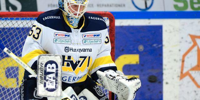 HV71:s målvakt Fredrik Pettersson Wentzel. Robert Granström/TT / TT NYHETSBYRÅN