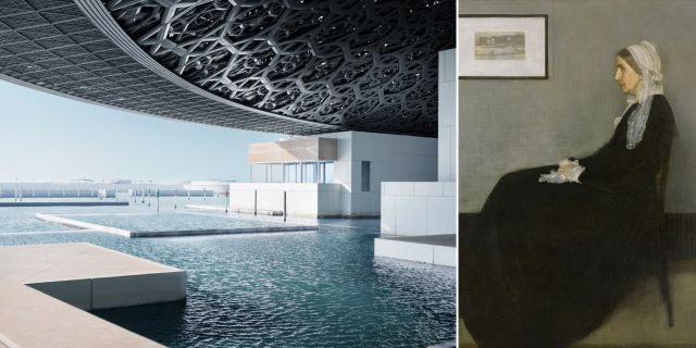Oljemålningen Whistler's Mother är ett av många framstående verk som kommer att ställas ut på Louvren i Abu Dhabi. Premiären är på lördag. Mohamed Somji / Wikicommons