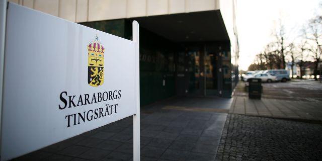 Skaraborgs tingsrätt i Skövde.  Björn Larsson Rosvall/TT / TT NYHETSBYRÅN