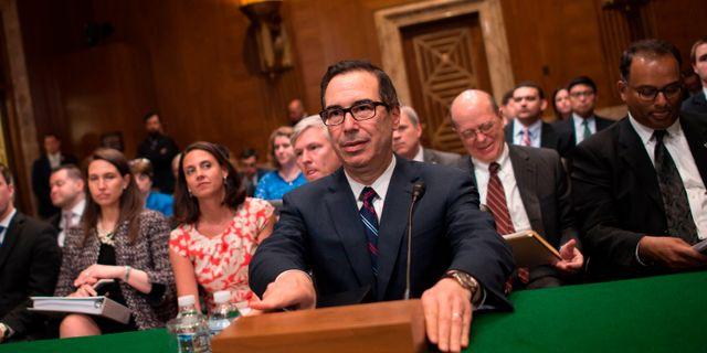 USA:s finansminister Steven Mnuchin.  ANDREW CABALLERO-REYNOLDS / AFP