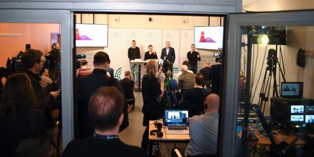 Bild från dagens pressträff. Fredrik Sandberg/TT / TT NYHETSBYRÅN