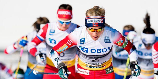 Norska skidåkaren Therese Johaug under världscupen i mars. JON OLAV NESVOLD / BILDBYRÅN NORWAY