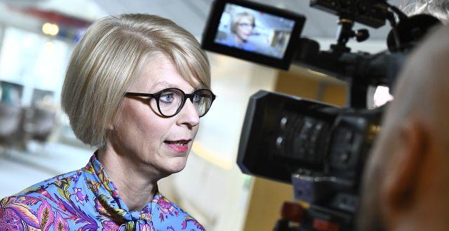 Moderaternas ekonomiske talesperson Elisabeth Svantesson. Claudio Bresciani/TT / TT NYHETSBYRÅN