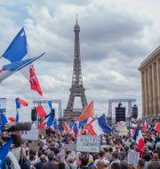 Demonstrationer i Paris. Rafael Yaghobzadeh / TT NYHETSBYRÅN