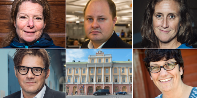 Cilla Benkö, Thomas Mattsson, Hanna Stjärne, Jan Helin och Helle Klein. TT