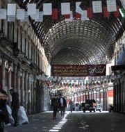 Arkivbild från Syriens huvudstad Damaskus.  LOUAI BESHARA / TT NYHETSBYRÅN
