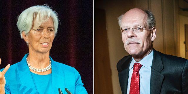 Christine Lagarde och Stefan Ingves Jens Meyer/AP och Tomas Oneborg/TT