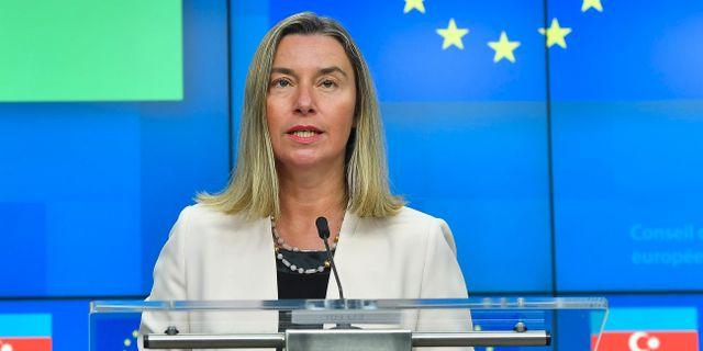 Federica Mogherini. Arkivbild. EMMANUEL DUNAND / AFP