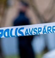 Polisens avspärrningsband. Johan Nilsson/TT / TT NYHETSBYRÅN