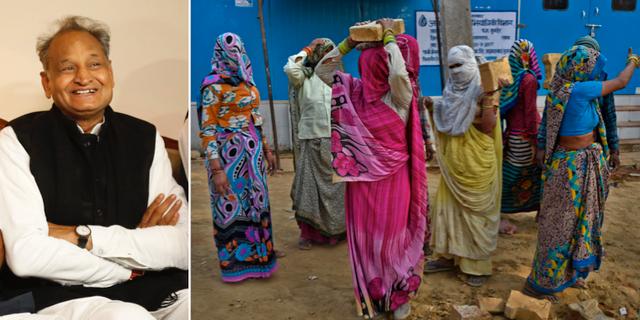 Ashok Gehlot och kvinnor i Rajasthan. TT