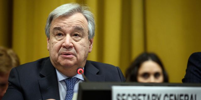 FN:s generalsekreterare António Guterres. FABRICE COFFRINI / AFP