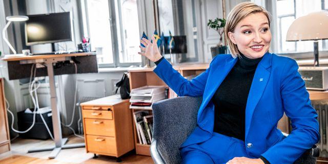 Ebba Busch Thor, partiledare för Kristdemokraterna. Tomas Oneborg/SvD/TT / TT NYHETSBYRÅN