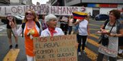 Bild från dagens protester. YURI CORTEZ / AFP
