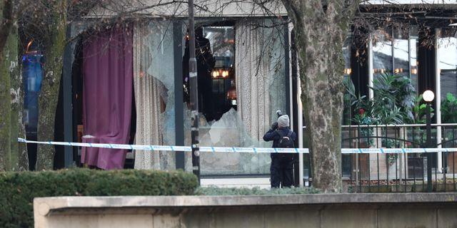 Avspärrningar vid nattklubben där två män sköts ihjäl i december. Jeppe Gustafsson/TT / TT NYHETSBYRÅN