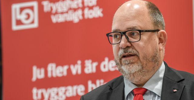 LO:s ordförande Karl-Petter Thorwaldsson. Fredrik Sandberg/TT / TT NYHETSBYRÅN