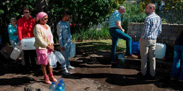 Historisk torka vattenbrist hotar kapstaden