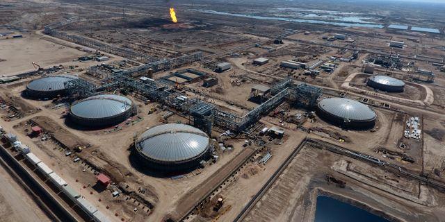 Oljefälten nära Basra, 55 mil sydöst i Bagdad. Arkivbild.  Nabil al-Jurani / TT NYHETSBYRÅN